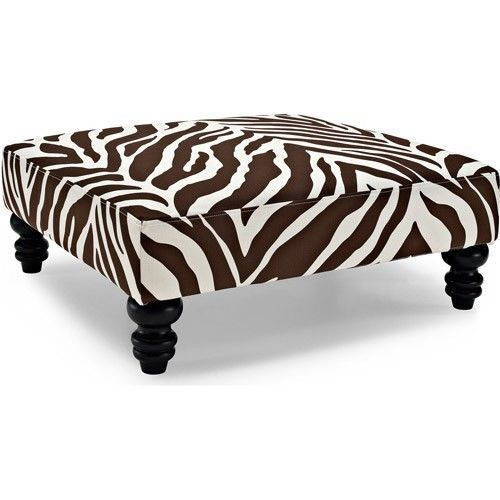 Zebra Coffee Table Upholstered Ottoman Ottoman Coffee Table