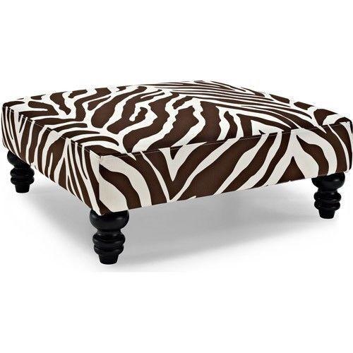 zebra coffee table foot rest ottoman