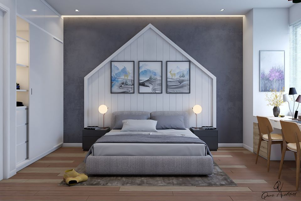 2767 Interior Bedroom Scene Sketchup Model By Quocvau Free