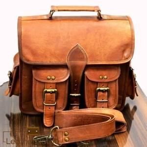 8ec24a9e1b1e Vintage handmade goat leather messenger bags satchel business bag  adjustable shoulder strap 100% genuine goat leather messenger bag with a  durable inner ...