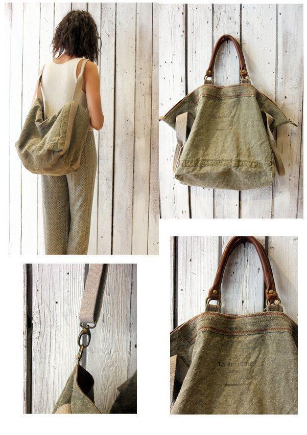 Francesca Handmade Military Fabric Bag Vintage A Beautiful vwO08nmN
