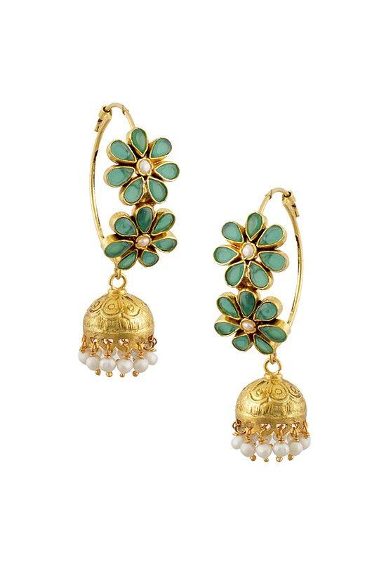 Hoop Jhumkas Amrapali Pinned By Sujayita Jewellery