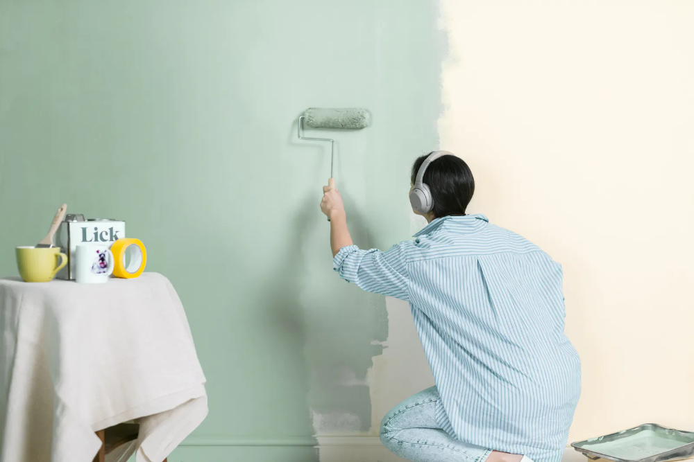 Lick Paints Wallpapers And Supplies Your Walls Covered Lick How To Hang Wallpaper Ceiling Painting Green Paint