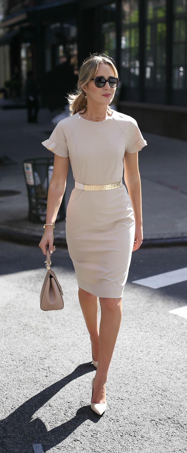 short white sheath dress
