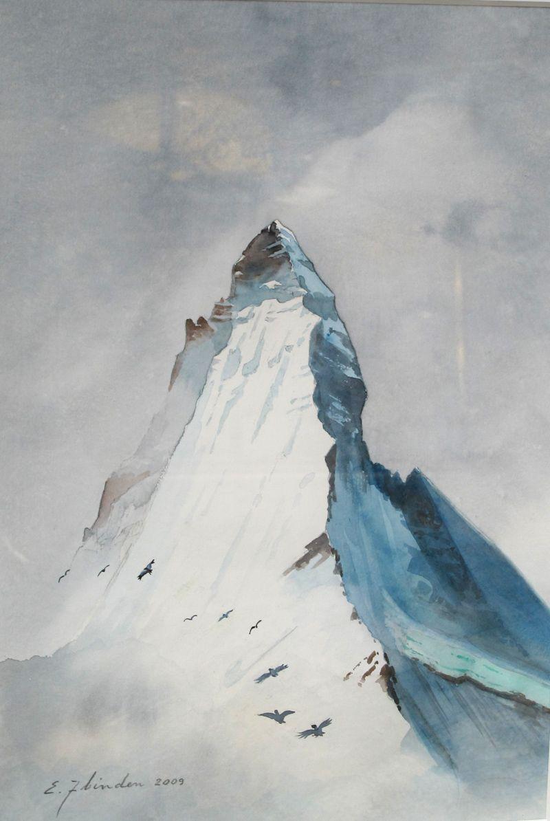 Mountain painting from Switzerland