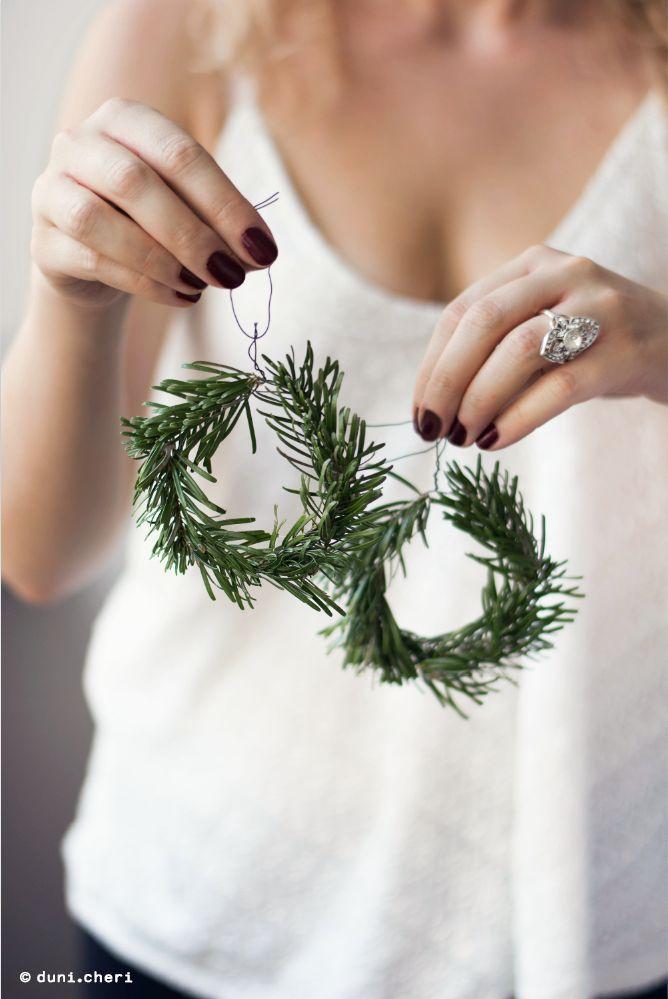 Photo of Make mini fir wreaths yourself