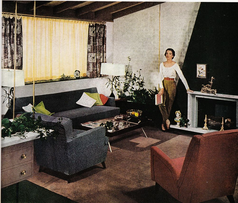 1950's home interior design us decor  for the home  pinterest  mid century midcentury