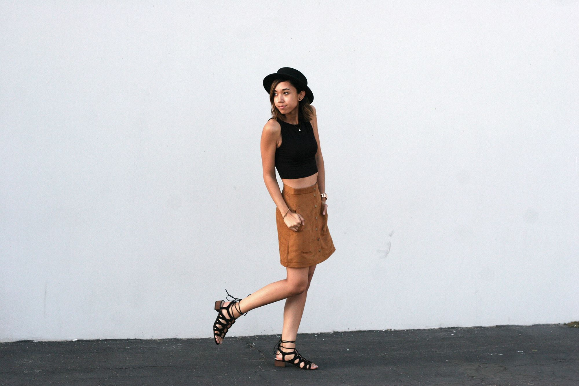 brown suede skirt - Google Search