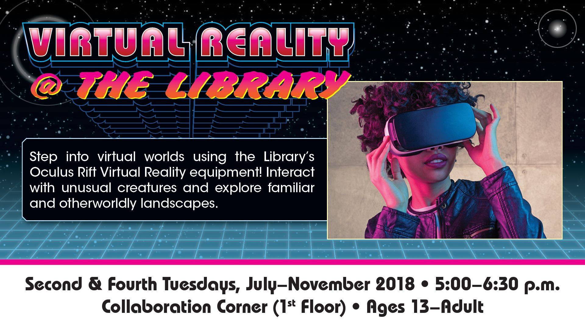 Step into virtual worlds using the Library's new Oculus Rift Virtual