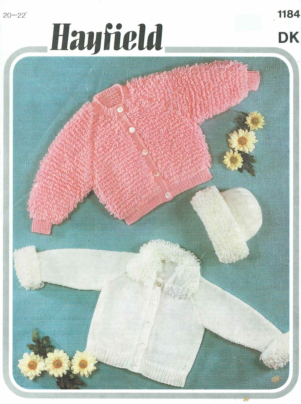Hayfield 1184 vintage baby knitting pattern loopy stitch https://www ...