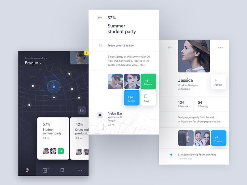 Event Discovery App Mobile Design Inspiration App Design Mobile App Design