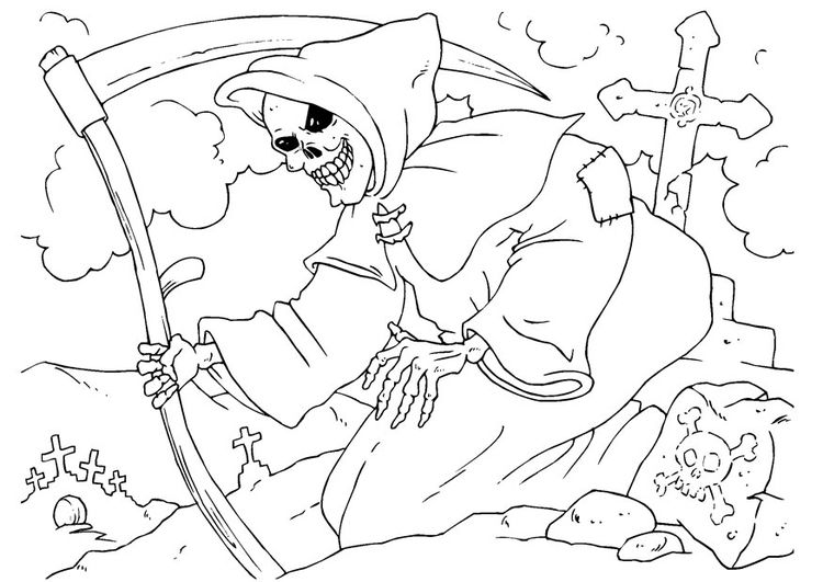 Coloring Page Grim Reaper Img 23006 Halloween Coloring Halloween Coloring Pages Free Halloween Coloring Pages