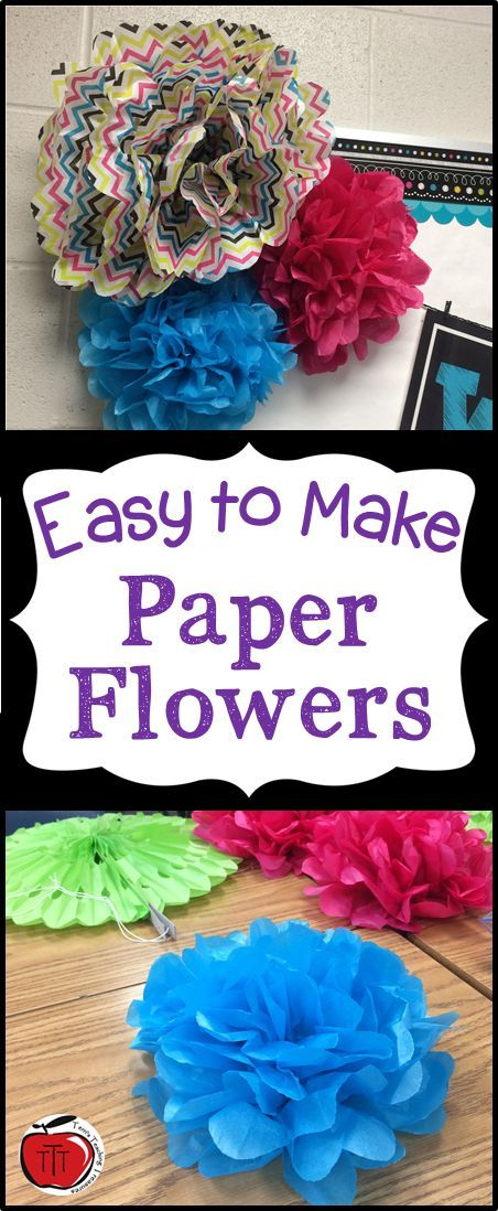 How To Make Your Own Paper Flowers Flower Bulletin Boards