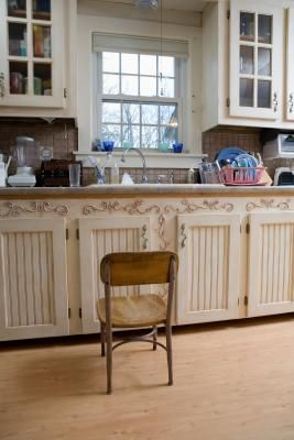 How to Paint a Beadboard Cabinet to a Gloss Finish ...