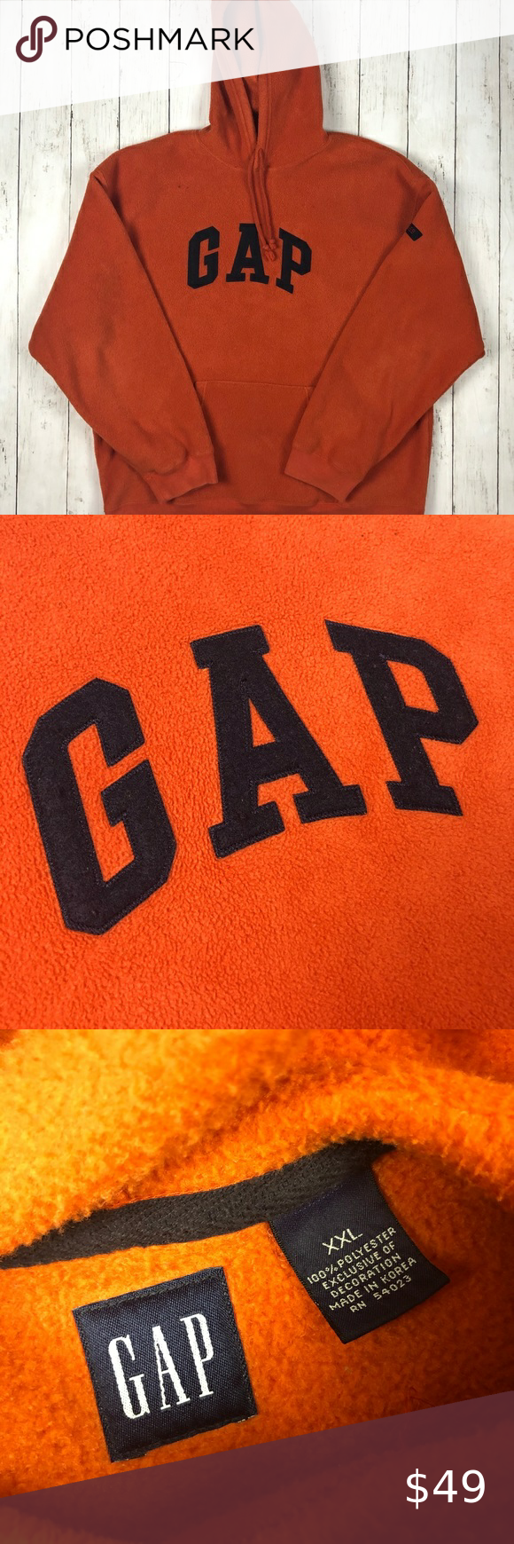 Vintage 90s Gap Spell Out Orange Hoodie Kanye West 100 Authentic Size Xxl Condition No Rips Or Tears No Stains N In 2020 Orange Hoodie Sweatshirt Shirt Kanye West
