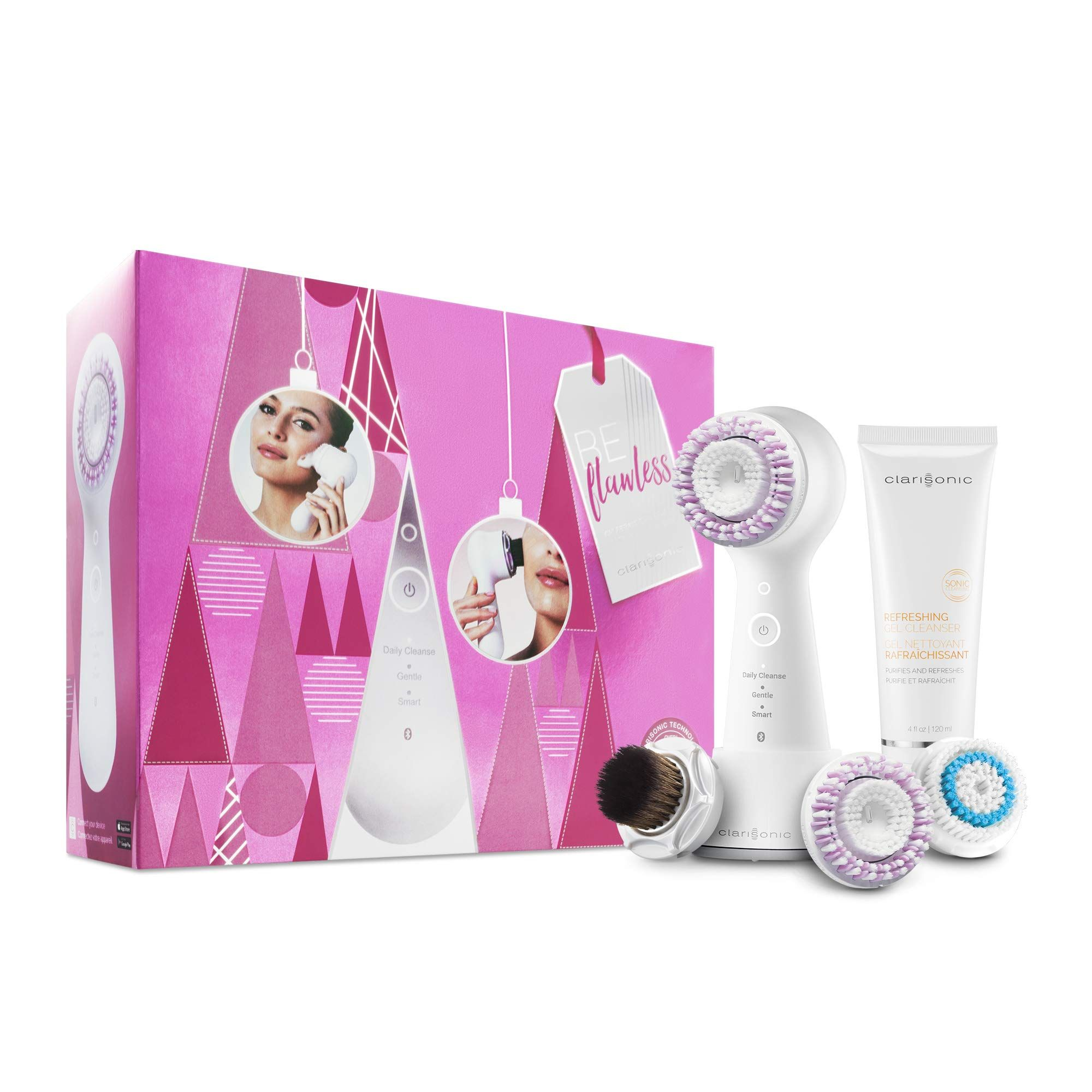 Mia Smart Sonic Cleansing Face Brush Gift Set *** You can