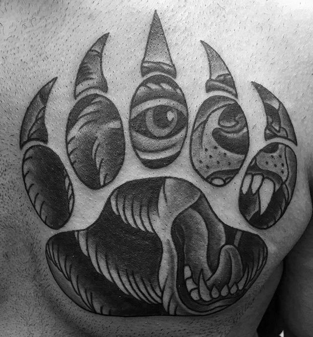 100 Bear Claw Tattoo Designs For Men Sharp Ink Ideas Bear Claw Tattoo Bear Paw Tattoos Claw Tattoo