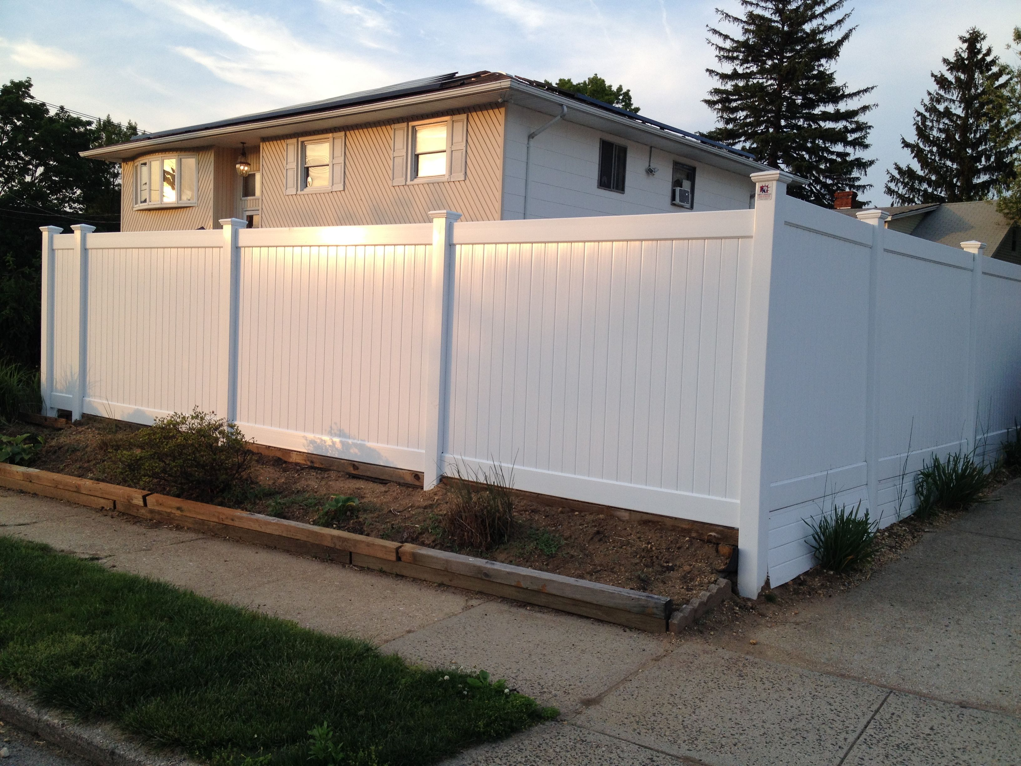 6 Infinity Solid Pvc Privacy Fence Installed In North