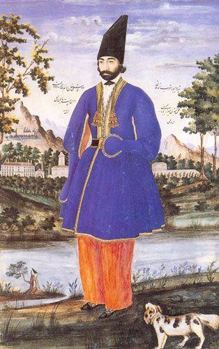 دوستعلی خان معیر امضای میرزا بابا الاصفهانی الامامی تهران ۱۲۶۳ق ۱۸۴۶م آبرنگ مات ۲۵ ۴ ۳۹ ۵ Art Iranien Art Iranien
