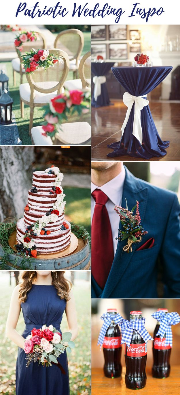 Fourth of July Patriotic Wedding Inspiration B&E Lucky