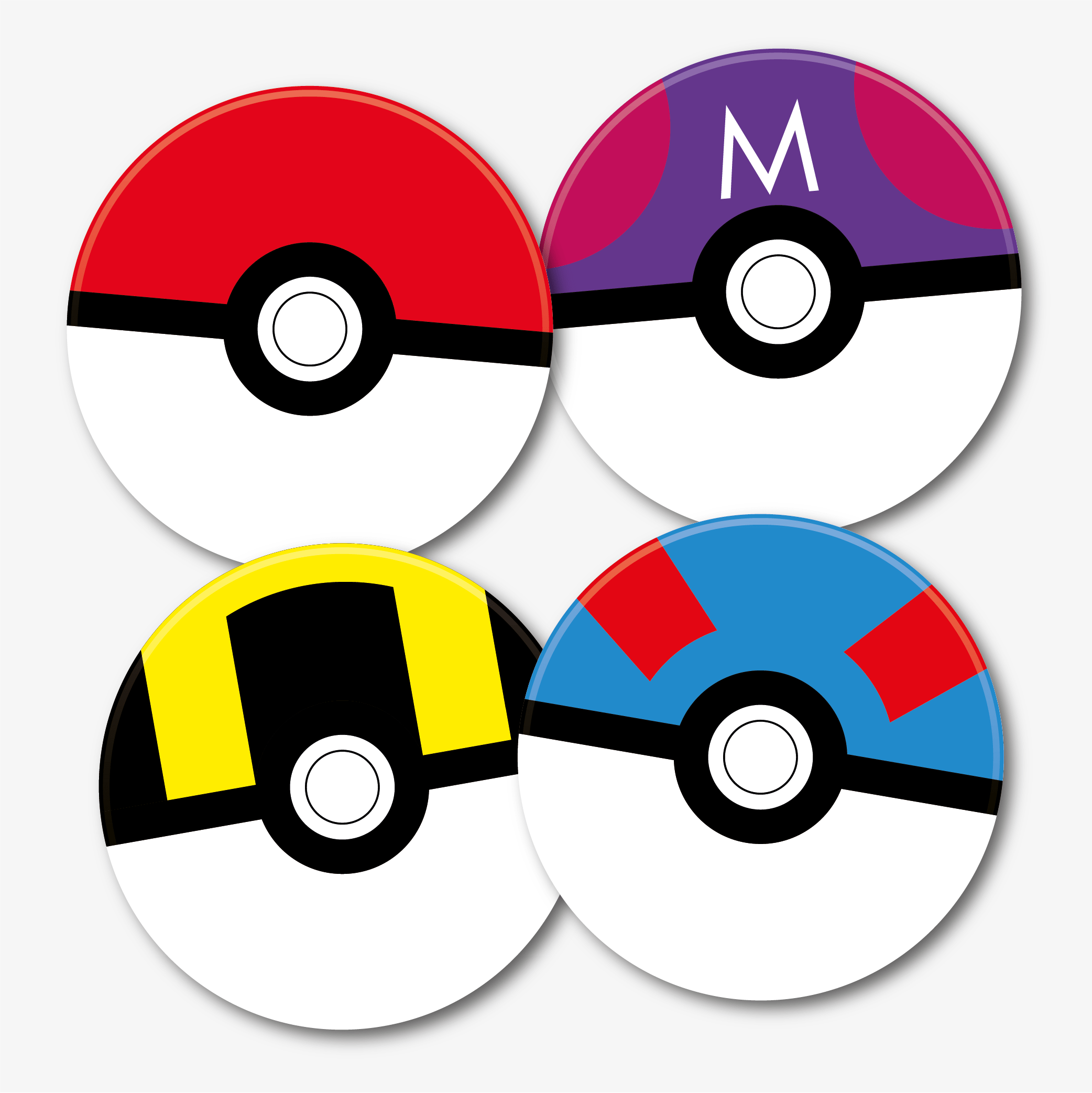 Pokemon Pokeball Coaster Set Pokeball Ball Coasters Acrylic Prints