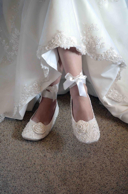 Bridal ballet flats, Wedding shoes