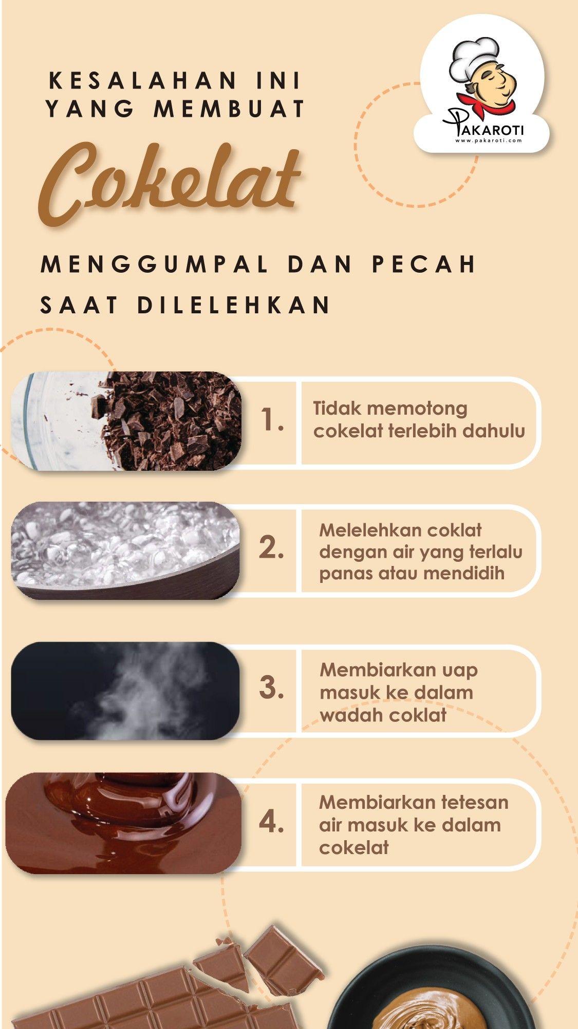 Kesalahan Ini Yang Membuat Coklat Menggumpal Dan Pecah Saat Dilelehkan Makanan Makanan Dan Minuman Makanan Ringan Manis