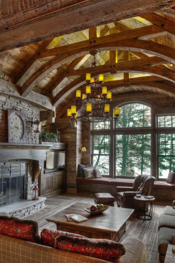 Big Wood Timber Frames – Whitefish   Cabin Fever   Pinterest ...