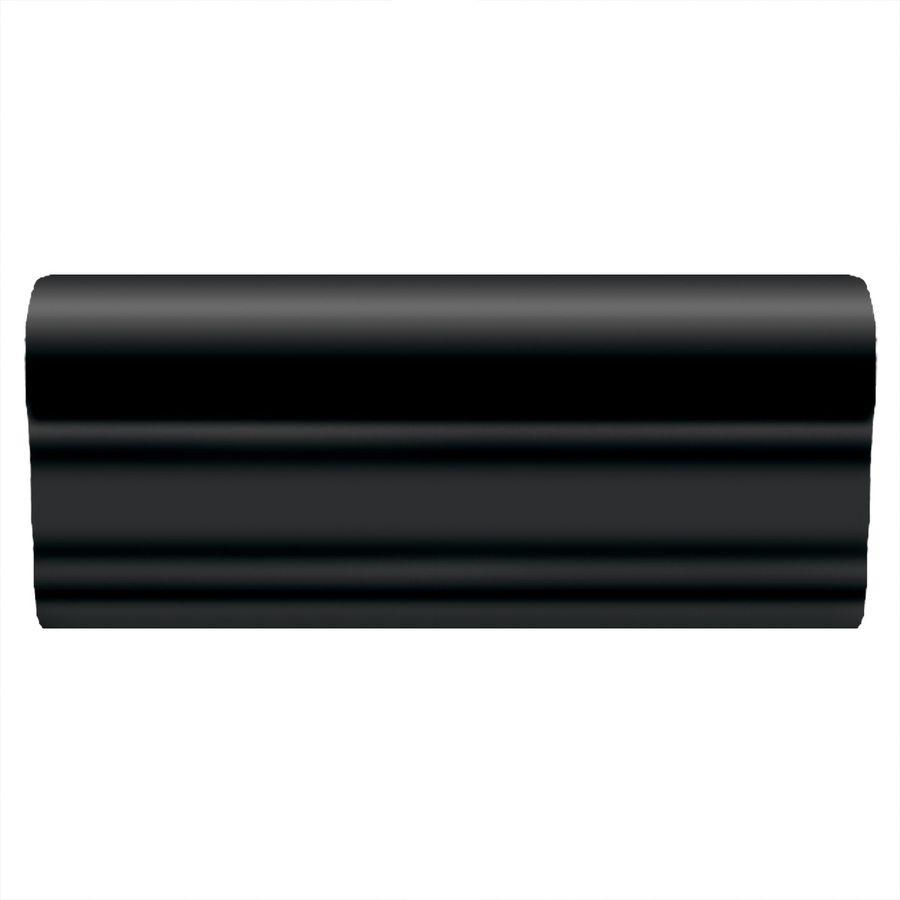 American olean linea gloss black ceramic chair rail tile