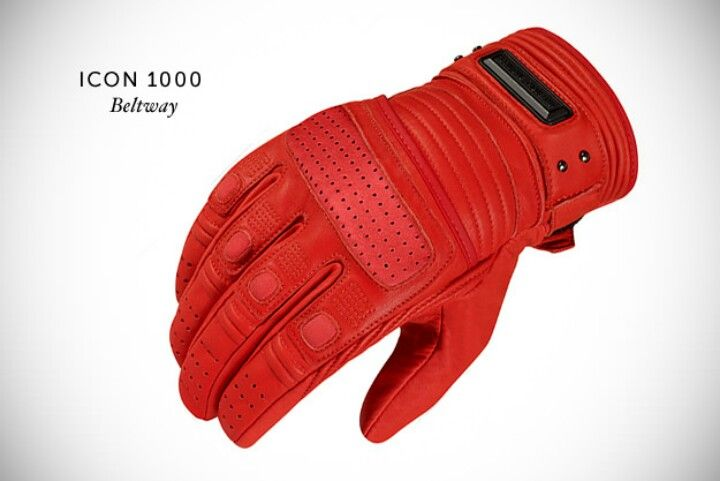Icon 1000 Beltway Gloves The Bright Red Beltway Glove By Icon 1000 Is Made From French Cowhid Leather Motorcycle Gloves Motorcycle Gloves Women Motorcycle Gear