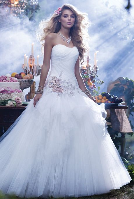 Justin Alexander - Spring 2015 - Style 8763 Embroidered Lace and ...