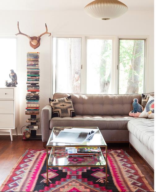 Mid Century Modern Living Room Rug mid-century modern living room. love the furniture and rug! don't