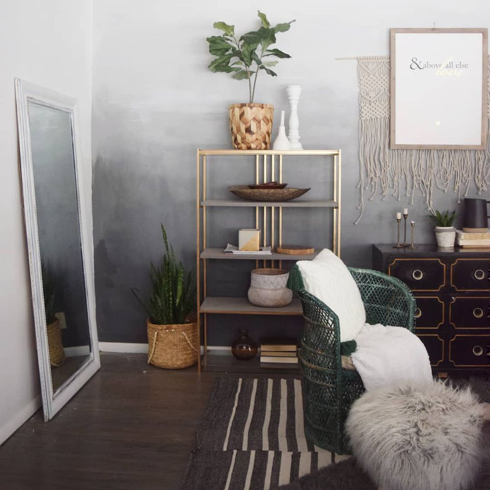 Sunset Ombre Paint Accent Wall: 10 Spaces With Gorgeous Ombre Walls