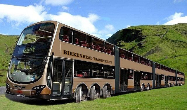 Birkenhead Transport Orders Triple Articulated Double Decker Bus