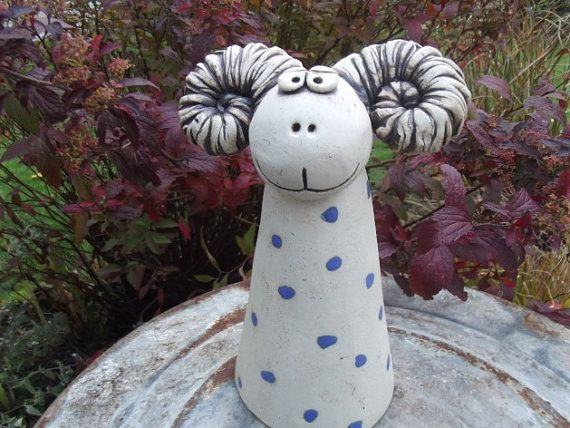 Fence Figure Mountain Goat Sepp Skulptury Ceramica Esculturas I Arte
