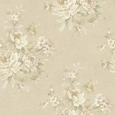 Nantucket Bouquet Sepia Wallpaper NK2027