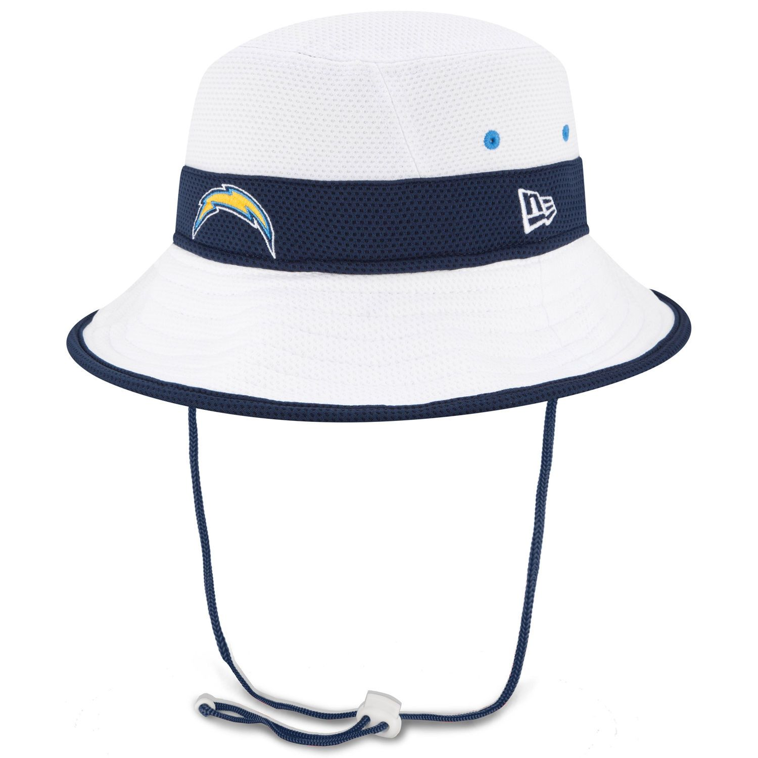 2252ca3f3f71e Men s San Diego Chargers New Era White On Field Training Camp Bucket ...