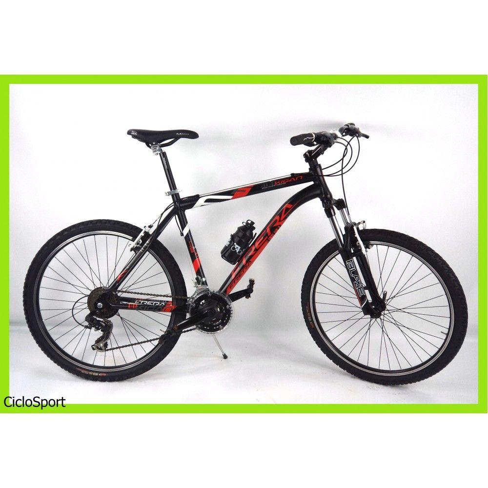 Bicicletta Frera Kigan Nero Rosso Mountain Bike 26 Taglie