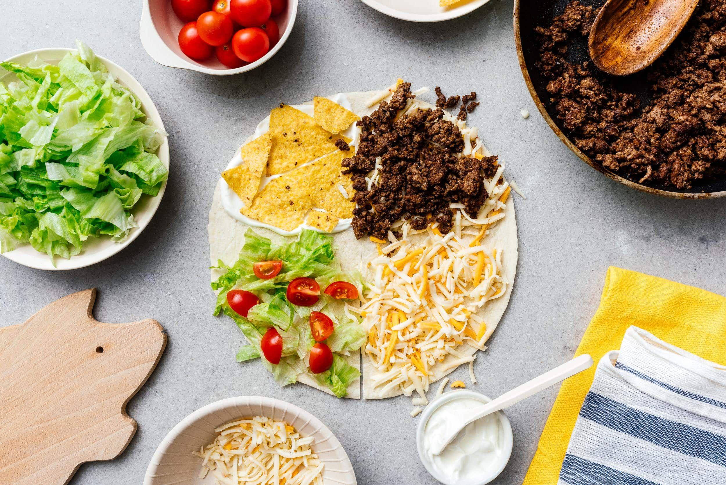 Tiktok Tortilla Wrap Hack I Am A Food Blog Recipe In 2021 Tortilla Wraps Food Crunch Wrap Supreme