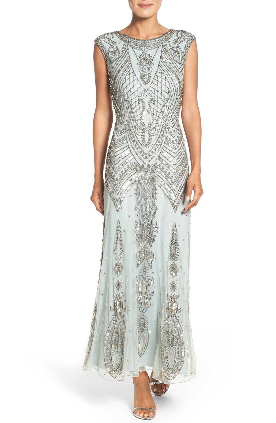 Casual dresses to wear to a wedding  Pisarro Nights Embellished Gown Regular  Wedding dresses