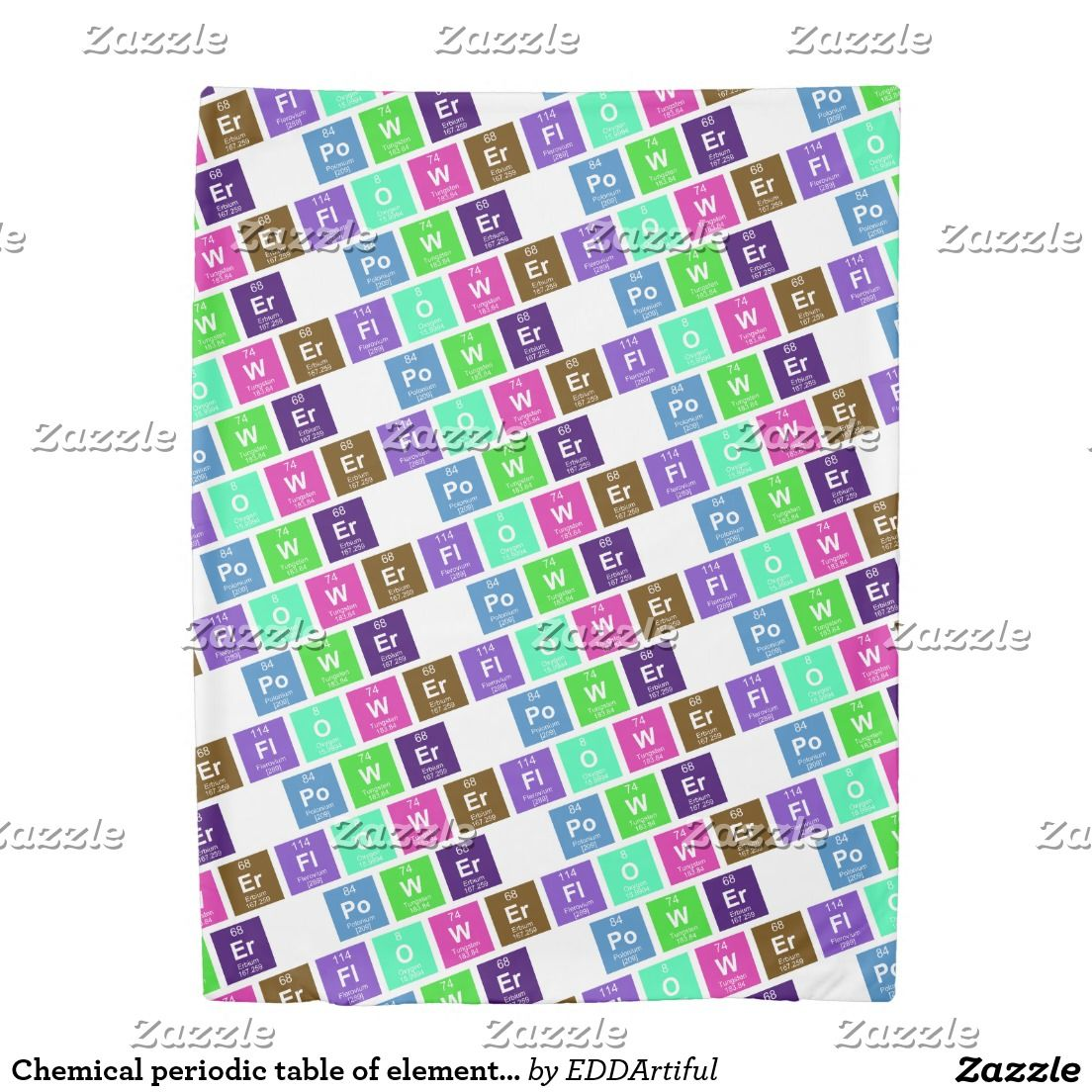 Chemical periodic table of elements flower power duvet cover chemical periodic table of elements flower power duvet cover urtaz Gallery