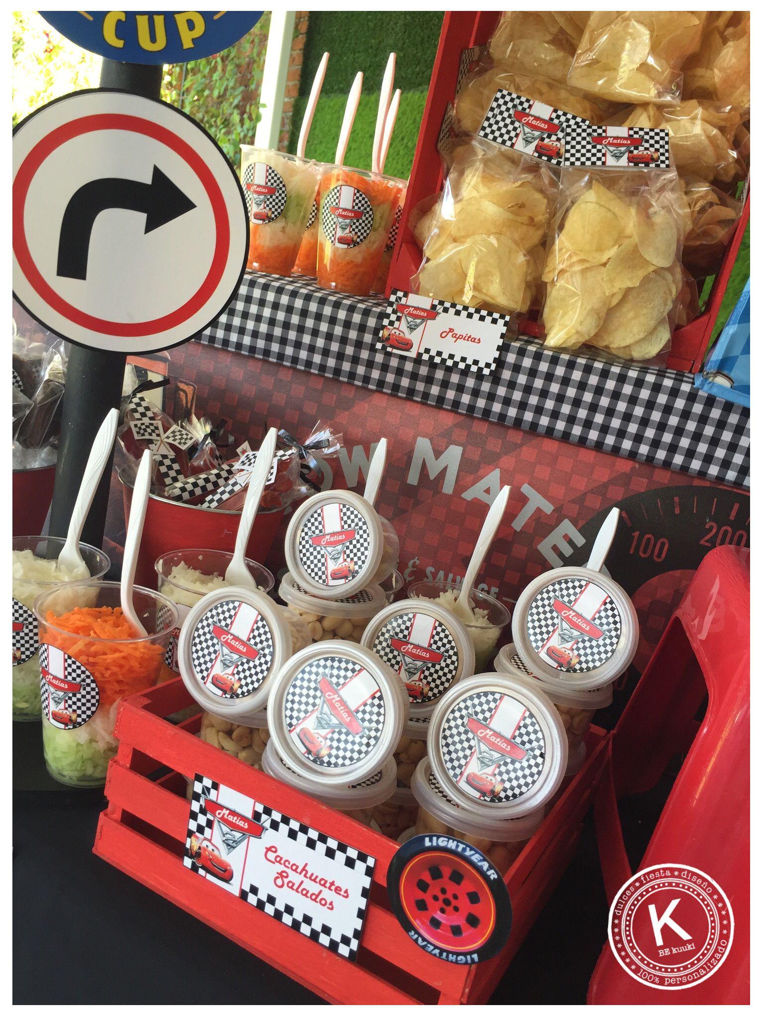 Mesa de dulces candy bar cumplea os cars fiesta for Mesas de dulces infantiles