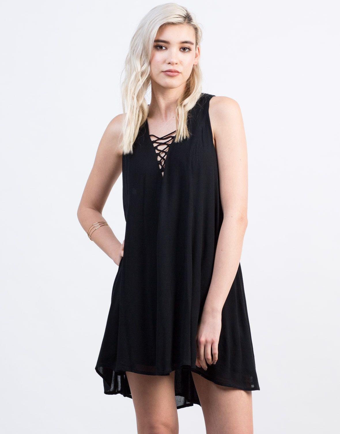 fa5be6a000a Lace-Up Shift Dress