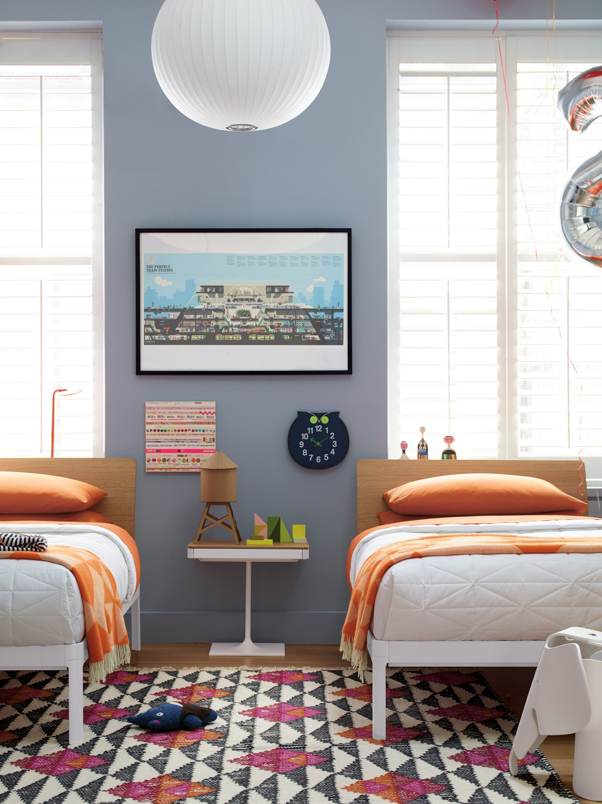 George Nelson Ball Pendant Lamp In A Children S Bedroom Boy