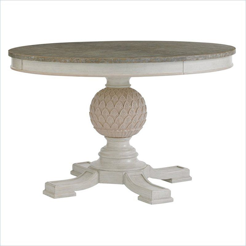 Stanley Furniture Preserve Artichoke Pedestal Dining Table In Delectable Stanley Dining Room Set Inspiration