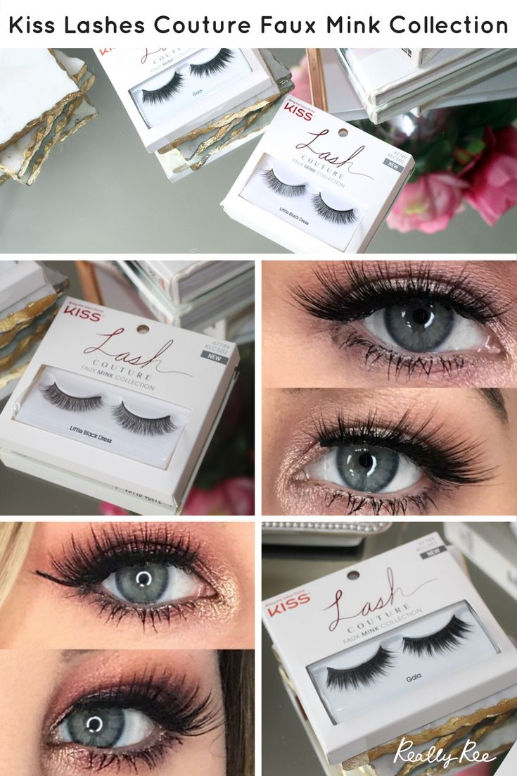 Kiss Lashes Couture Faux Mink Collection Makeup Pinterest