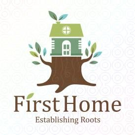 First+Home+Tree+Trunk+logo