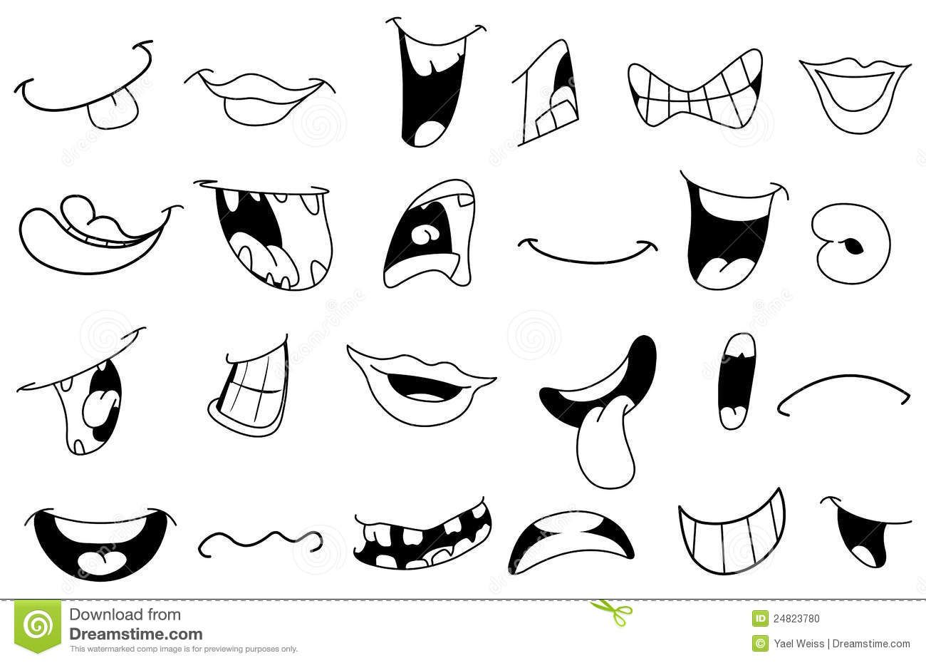 Examples Of Easy To Draw Mouth