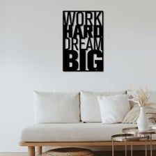 Work Hard Dream Big Cdr Dxf Ai Pdf Png T Shirt Design Etsy In 2021 Big Wall Art Metal Wall Decor Black Metal Wall Art