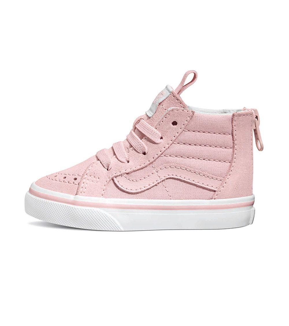 36a8ea57c90c42 Vans SK8 Hi Toddler Chalk Pink   True White